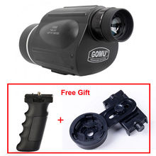 GOMU 13×50 Handheld Spotting Scope Monoculars Telescope w/ Cell Phone Adapter+Accu Grip Handheld Tripod for BirdWatching Hunting
