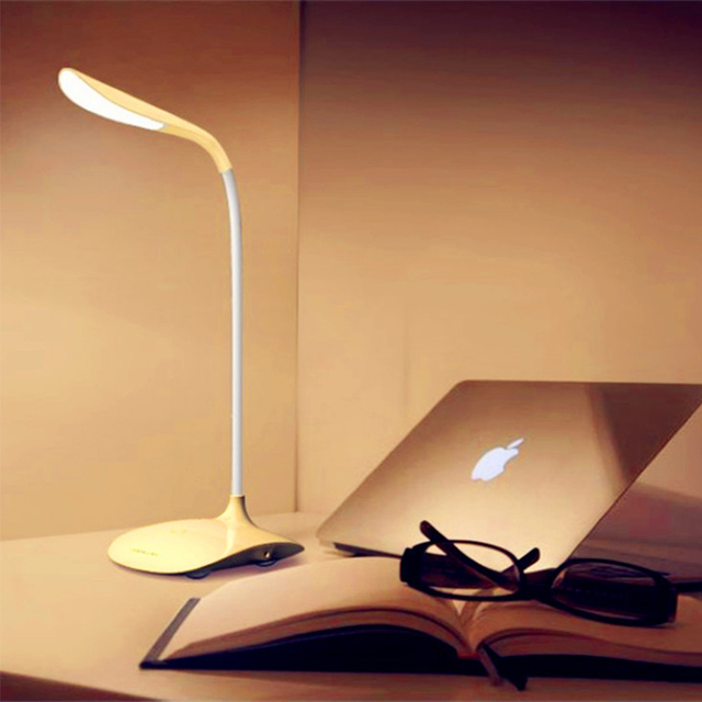 USB Rechargeable Touch Sensor Cordless LED Light Desk Table Reading Lamp White  Energy Saving Lamps