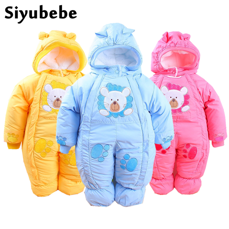 Siyubebe Winter Baby Rompers Fashion Brand Cotton Fleece Ropa Bebe Infant Girl Jumpsuit Kids Clothing Newborn Baby Boy Clothing newborn baby rompers high quality natural cotton infant boy girl thicken outfit clothing ropa bebe recien nacido baby clothes