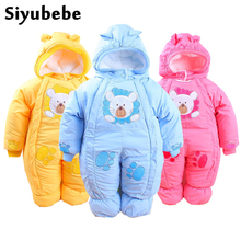 Siyubebe Winter Baby Rompers Fashion Brand Cotton Fleece Ropa Bebe Infant Girl Jumpsuit Kids Clothing Newborn Baby Boy Clothing