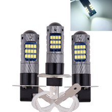 1PCS H3 H1 5630 LED High Power Replacement Fog Lamp Car Headlight Lamp Driving Daytime Running light 12V Light Source(China)