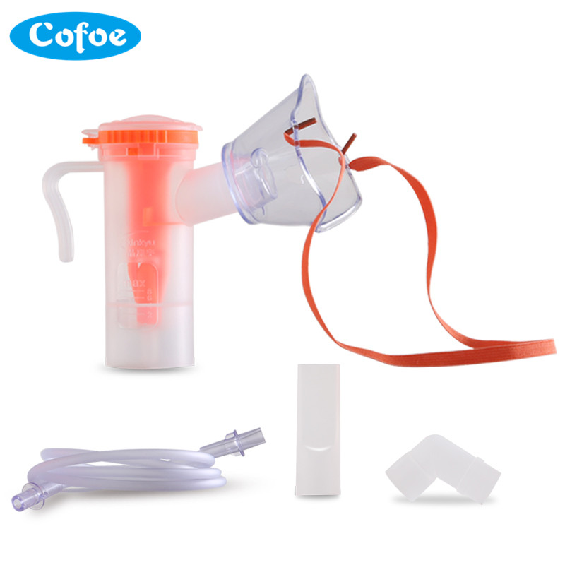 Cofoe Household Adjustable Nebulizer Mask Containing Nebulization Cup Connecting Pipe Atomizer Inhaler Both for Children Adult cofoe hot sale medical home health care portable inhaler mini dolphins children adult nebulizer