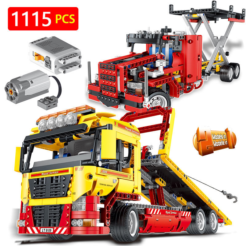 Hot Creator LegoINGLYS Vehicle Technic Series Technical Motor Driven Transformation Truck Car Blocks Toys For Children driven to distraction