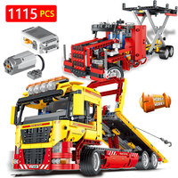 Hot Creator LegoINGLYS Vehicle Technic Series Technical Motor Driven Transformation Truck Car Blocks Toys For Children