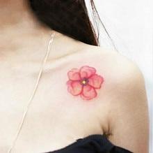 (Min Order $0.5) Waterproof Temporary Tattoo Tatoo Henna Fake Flash Tattoo Stickers Taty Tatto Watercolor Flower SYA058