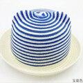 Мода детская Шляпа Солнца Медведи Ухо Полосатый Форма Соломы Caps 2015 New Baby Летнее Солнце HatsParent-ребенок крышка