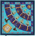 100cm*100cm Twill Silk Women 100% Silk Square Soldier's Sword Silk Scarf Femal High Quality Shield and Saber Print Shawl 6114