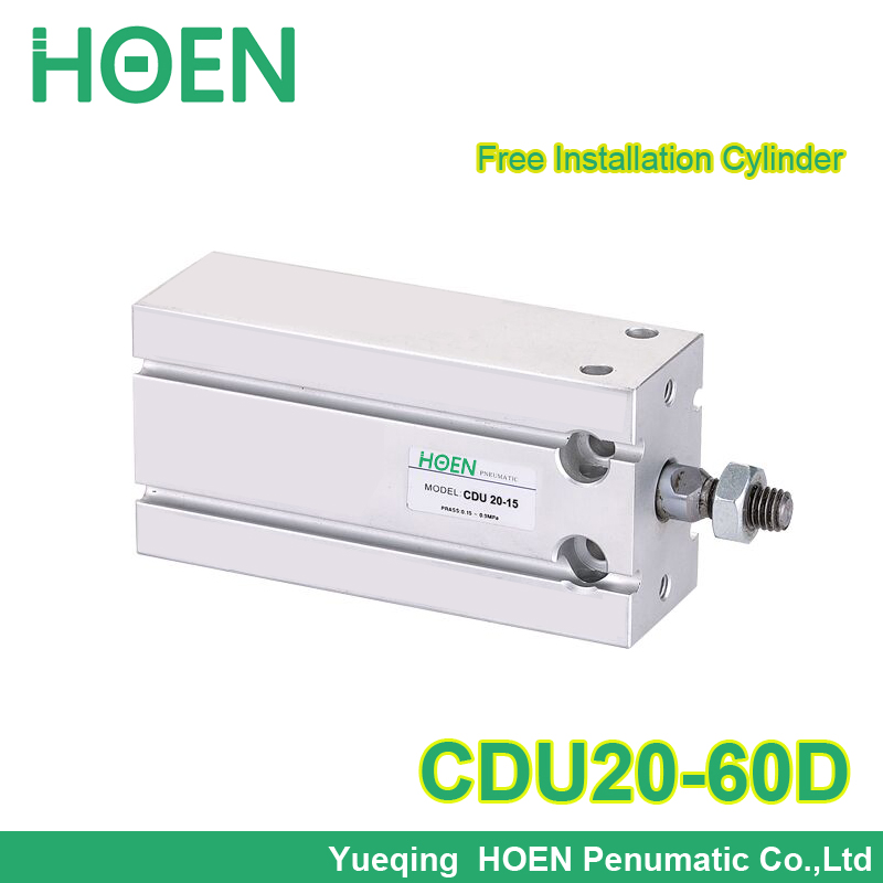 Free Mount CDU20-60 D CU CDU series Male Thread Single Rod Double Action Air Pneumatic Cylinder 10 mm bore 5mm stroke CDU20-60D mad wave бикини symphony
