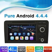 (Quad Core, 16 GB iNAND Flash) pure Android 4.4.4 coche sistema Radios navegación GPS para Audi A3 (2003-2012)