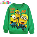 Keelorn New Autumn baby boys girl Cartoon design O-neck terry children wear Hoodies Sweatshirts Kid's clothing baby boy clothes