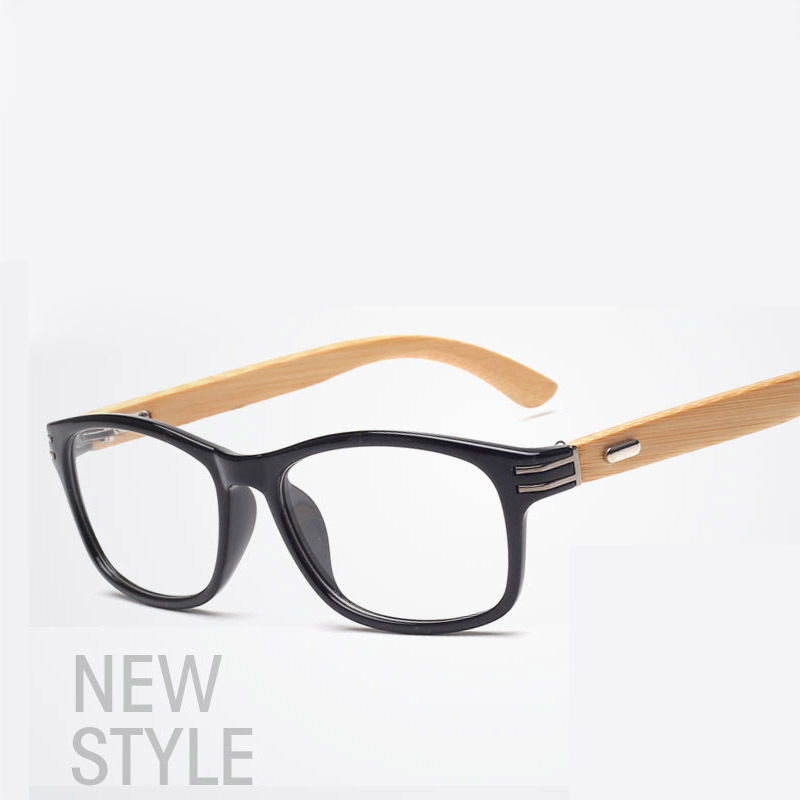 Brand 2018 Glasses Frame Wooden Fashion Retro Bamboo Leg Eyeglasses ...