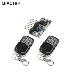 Image 1 - QIACHIP 2 adet 433 Mhz uzaktan kumanda + 433 Mhz kablosuz alıcı öğrenme kodu 1527 çözme modülü 4Ch çıkış öğrenme düğmesi DIY