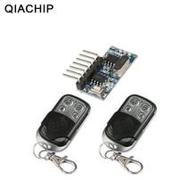 QIACHIP 2 pcs 433 Mhz zdalnego sterowania + 433 Mhz odbiornik bezprzewodowy nauka kod 1527 moduł dekodowania 4Ch wyjście nauki przycisk DIY