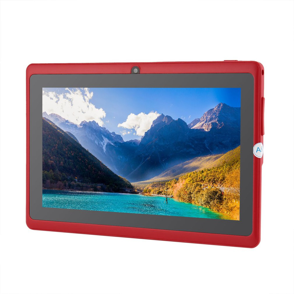7 Inch Children Tablets PC  512MB+4GB A33 Quad Core Dual Camera 1024*600 Android 4.4 Tablet PC With Silicone Cover