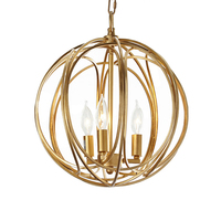 Modern gold kitchen fixture lighting gold round iron lampshade suspension modern ceiling pendant lamp art deco loft lamp e14