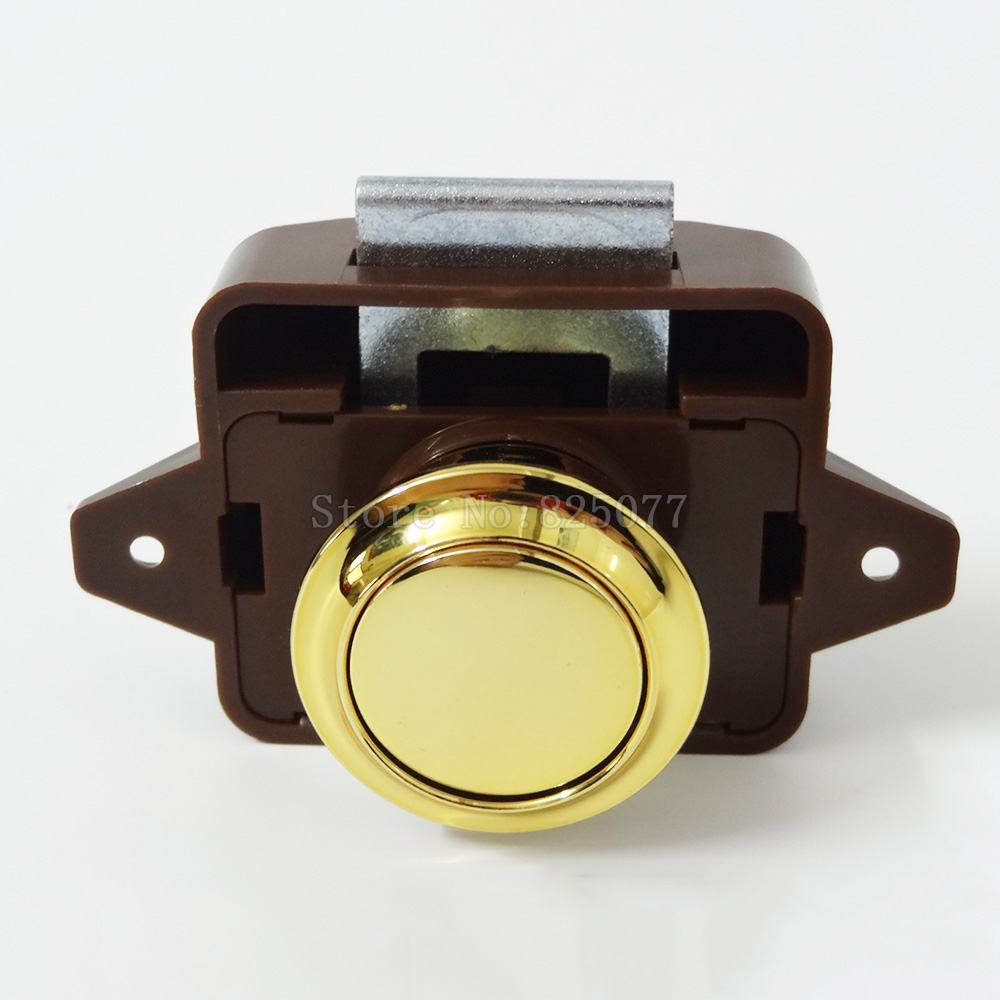 4PCS/Lot ABS Push Lock Button Catch Cupboard Door Knob Camper Caravan Motorhome RV Cabinet Drawer Latch JF1602
