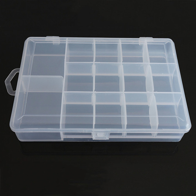 Adjustable 14 Grids Detachable Electronic Components Storage Box Assortment  Plastic Storage Case Rings Jewelry Display Organizer