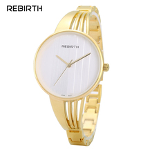 Luxury Brand Lady Gold Watches Women Full Stainless Steel Wr