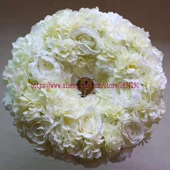 Artificial rose ring wreath Wedding decoration table centerpiece flower ball Arch flower 45cm 10pcs/lot Mixcolor
