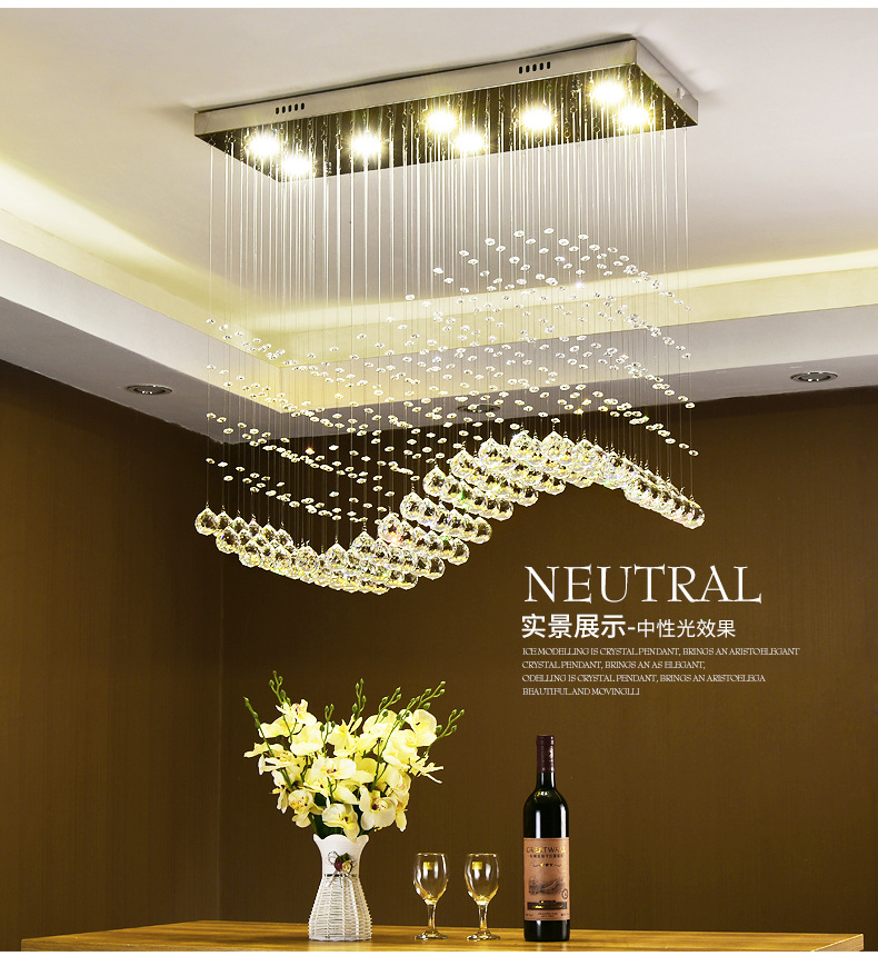 Dining Lighting Crystal Ceiling Light For Living Room Home Dining Light Lamp Hotel Creative Bar Lamp Lamp E14 LED bulb|Chandeliers| |  - title=