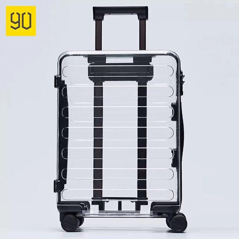 Xiaomi 90Fun Troisième Anniversaire Édition Limitée Tansparent 20 pouce Valise Seulement 2.7 kg 100% Bayer Transparent PC Pour Voyage