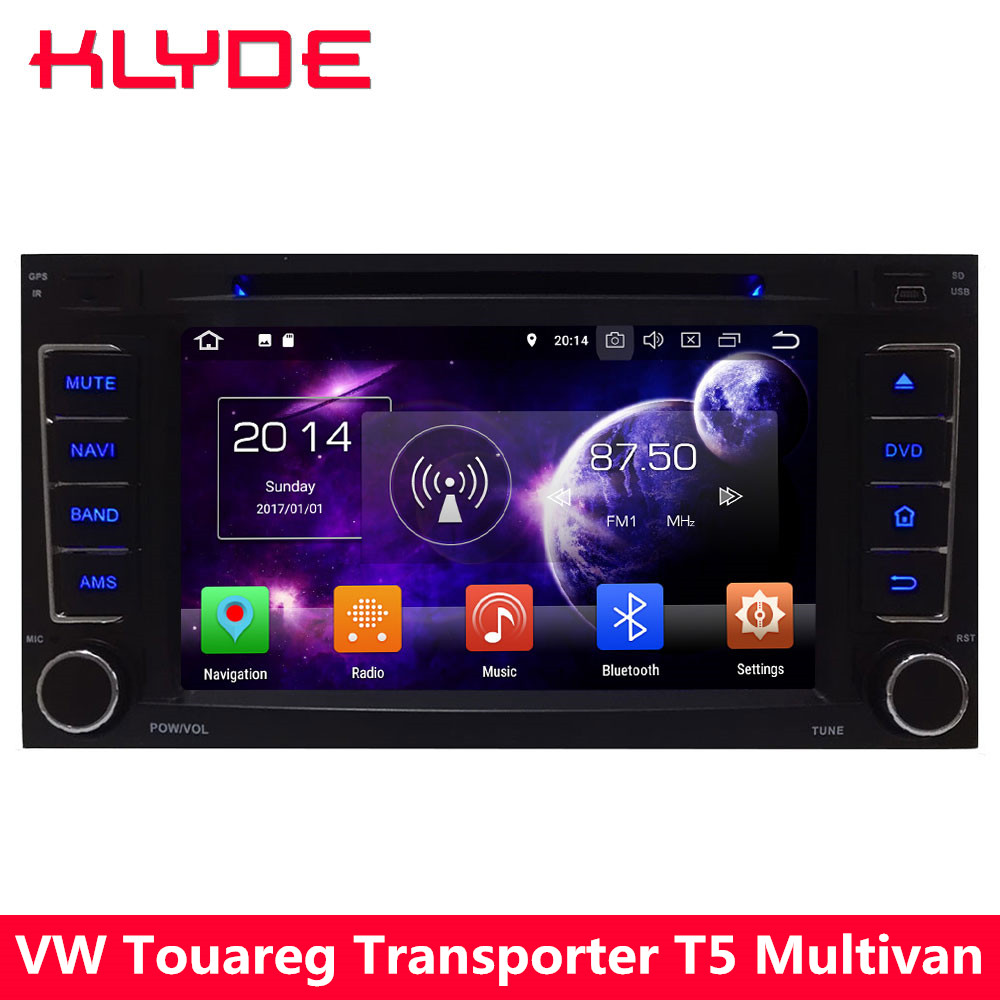 KLYDE Octa Core 4G Android 8 7.1 6 Car DVD Player For Volkswagen Multivan Transporter T5 2004 2005 2006 2007 2008 2009 2010 2012