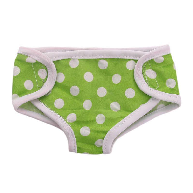 8 цветов волновой точки нижнее бельё для девочек трусики женщин Fit 18 дюймов американский и 43 см Детские аксессуары для кукол, девоче