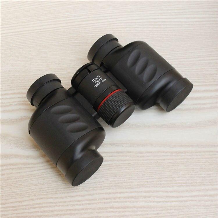 Free Shiping 10x24 stablized HD mini palm font b binoculars b font Central focusing foldable font