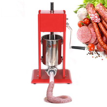 GZZT 3L Sausage Maker Manual Sausage Filler Machine Stainless Steel Spray Paint Sausage Making Machine Meat Tools For Household household automatic breakfast making machine american mini hot dog machine bread sausage maker toast furnace