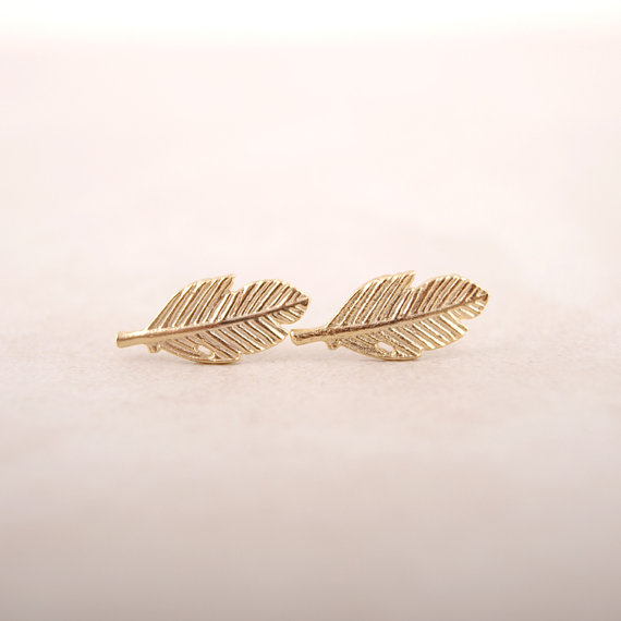 SMJEL New Fashion Jewelry Silver Color Fallen Leaves Stud Earrings for Women Vintage Leaf Earrings Gifts Men S038