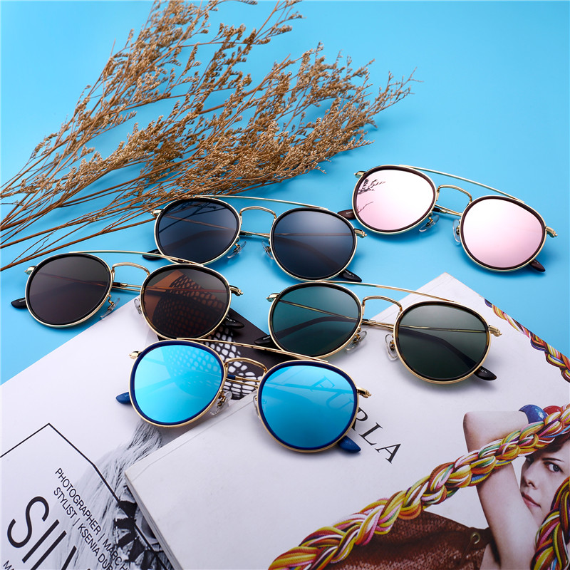 44dd50bd25 Jim Halo Retro Round Polarized Clip on Removable Sunglasses Women Men  Double Flat Mirror Lens Alloy Frame Steampunk Sun GlassesUSD  12.99-25.34 piece