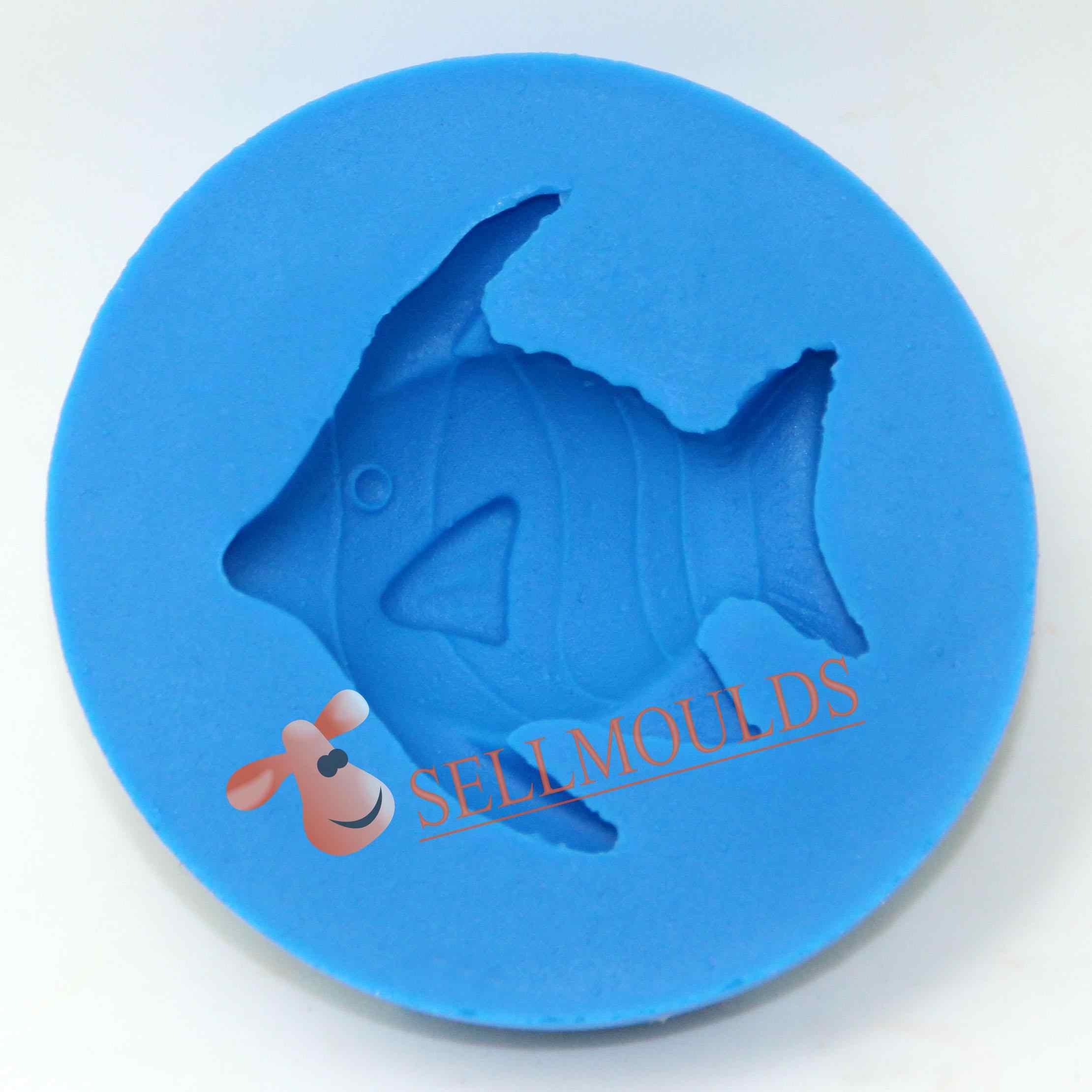 ثلاثية الأبعاد الأسماك قالب من السيليكون فندان قوالب الشوكولاته قالب صغير كيتشن bkسيليكون J1012