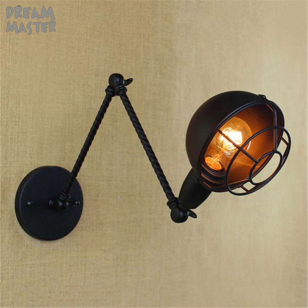 Style Industrial Vintage Wall Lamp Indoor Lighting Arm Wall Light , Edison Wall Sconce Lamparas De Pared quadri moderni коплстоун т moderni umeni