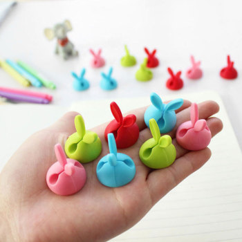 4pcs/bag Winder Wrap Cord Cable Storage Desk Set Rabbit Shaped Wire Clip Organizer Space Saving Desk Accessories Office Supplie 1