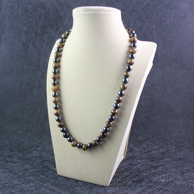 Drop shipping magnetska hematit kuglica ogrlica s prirodnim žutim tigrom oko okrugli perla čiste pozitivne energije dar nakit MN1002