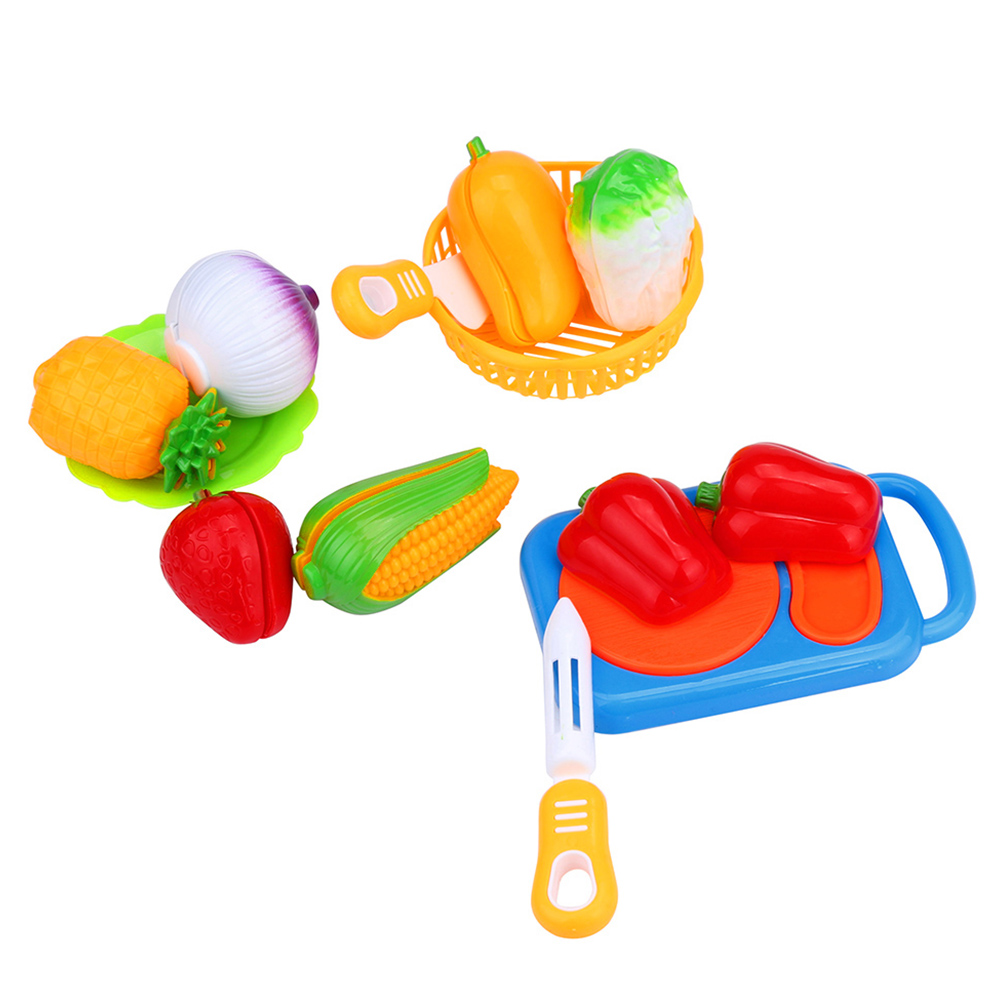 12Pcs Cutting Fruit Vegetable Pretend Play Children Kid Color Recognition Pretend Play Toys For Childrens Day Toys Gifts
