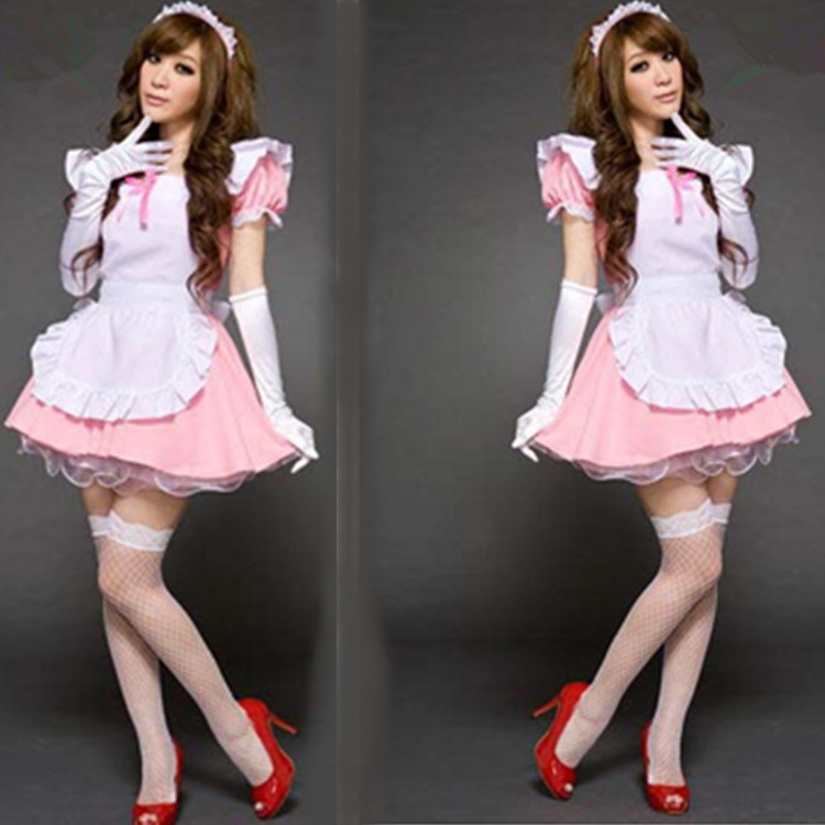 Free shipping Japan Sexy Pink maid service Take princess Lolita dress cosplay