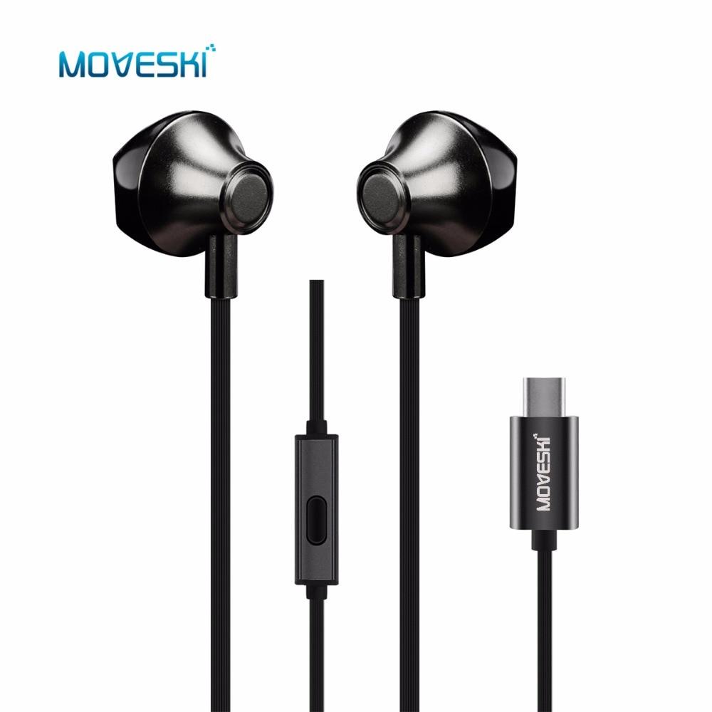 Moveski VT-1 USB C In-Ear Écouteurs ANC Fil Contrôle Casque Type C Numérique Écouteur Écouteurs Pour Xiaomi Sumsang Huawei