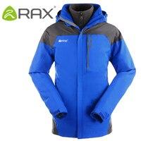 RAX Winter Outdoor Waterproof Jacket Men 3 in 1 Windproof Softshell Jacket Men Outdoor Hiking Jacket Windbreaker Breathable Rain