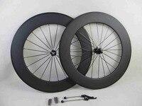 88mm Clincher Carbon Bicycle Wheels 700C 23mm Width Carbon Road Bike Wheelset
