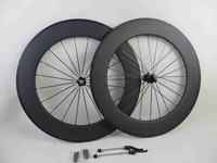 88mm Clincher Carbon Bicycle Wheels 700C 23mm Width Carbon Road Bike Wheelset
