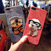 Cute Embroidery 3D Teddy Pug HUSKY Dog Cat Pet Soft Cover for IPhone X 8 6 6s 7 Plus 4.7 5.5 Mobile Phone Case Capa Cover CASES