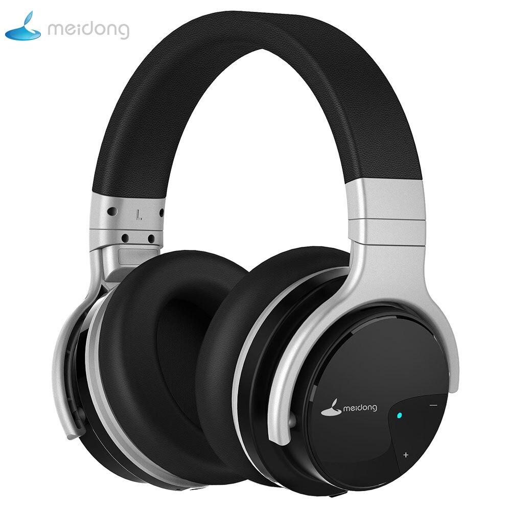 Meidong E7B casque Bluetooth casque sans fil actif suppression de bruit casque 30 heures sur l'oreille avec microphone basse profonde