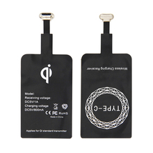 Qi Wireless Charger Receiver USB Wireless Charging Receiver for Android Micro USB Type-C Mobile Charging Pad Patch