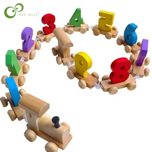 Toy Train-Figures Educational-Toy Railway Wooden Digital Mini Number Hot-Wyq Great Colorful