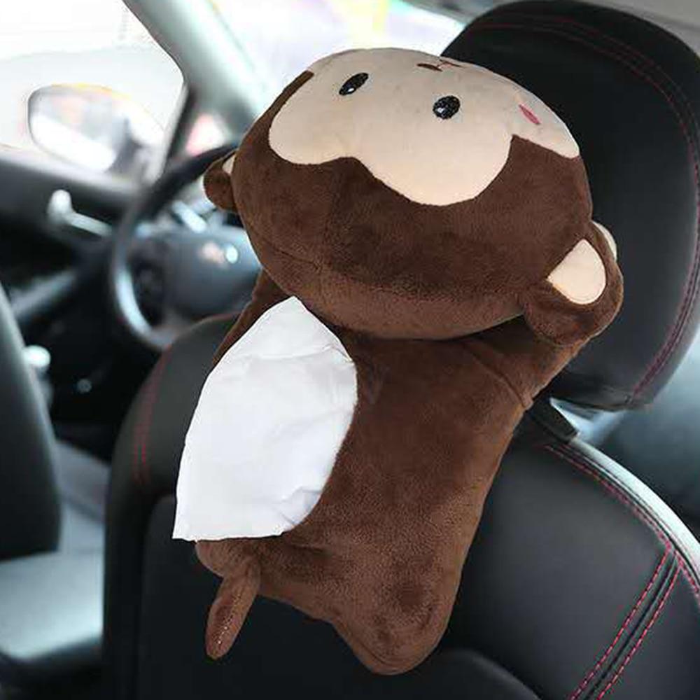 Universal High Quality Car Armrest Box Tissue Cartoon Cute Plush toys Gift