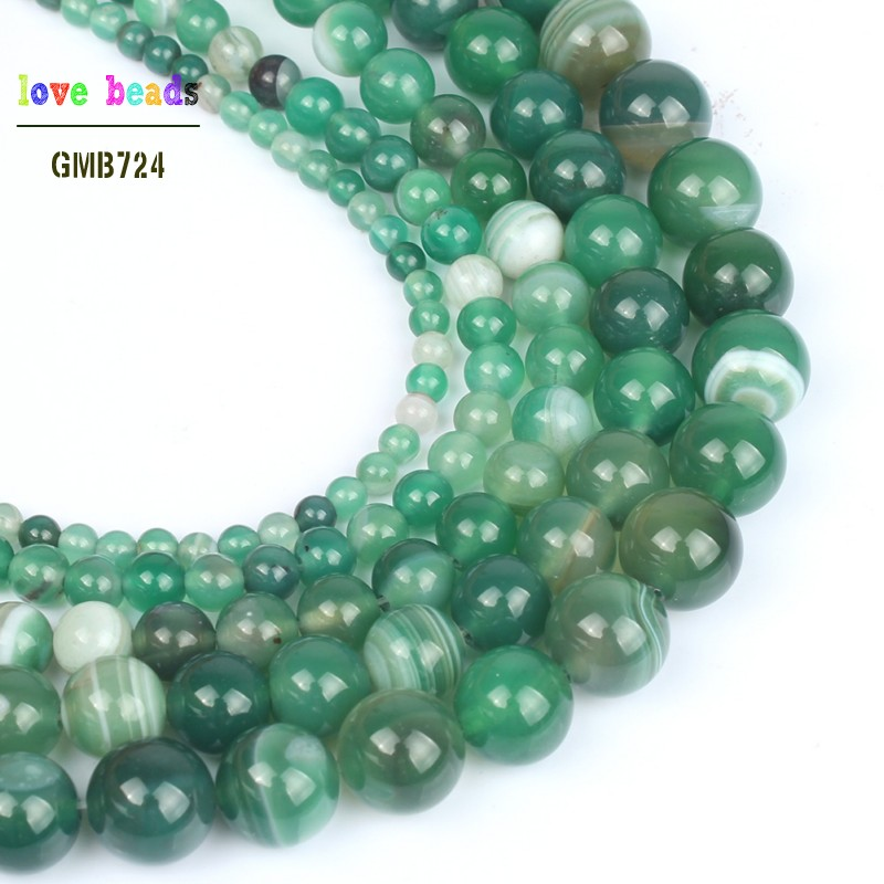 Smooth Round Shape Green Onyx bead available in two sizes