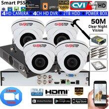 1080 P IR50M Антивандальная камера motozoom камера купольная камера высокого разрешения с 4CH XVR5104HS-S3 комплект камер видеонаблюдения HDD с питанием коробка