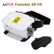 ANTVR Foldable Cardboard 3D VR BOX Virtual Reality Headset 100FOV IPD Adjustable Distortionless for 4.5-6.0inch Smartphones