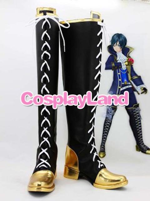 Personalizar Botas Vocaloid Projeto Diva F Kaito Sapatos Cosplay Cosplay Traje Festa de Halloween Cosplay Sapatos